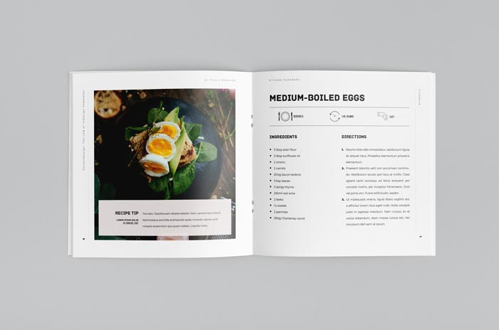 Square Cookbook / Recipe Book Template