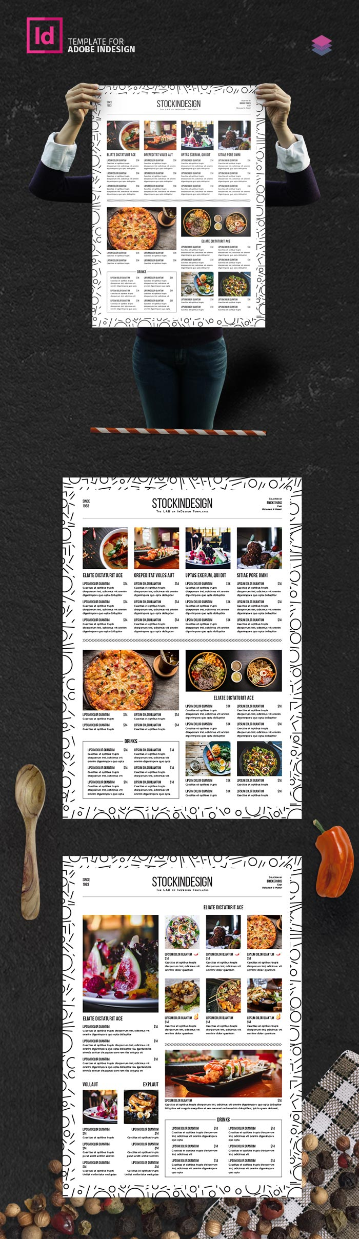Clean & Simple Food Menu