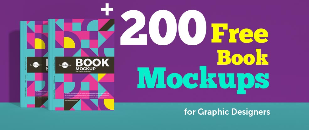 200+ Best Free Book Mockups for Graphic Designers