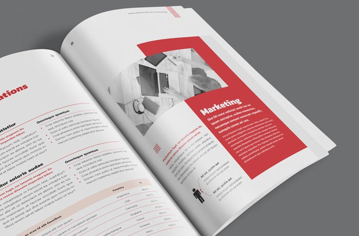 Elegant Annual Report Template for InDesign