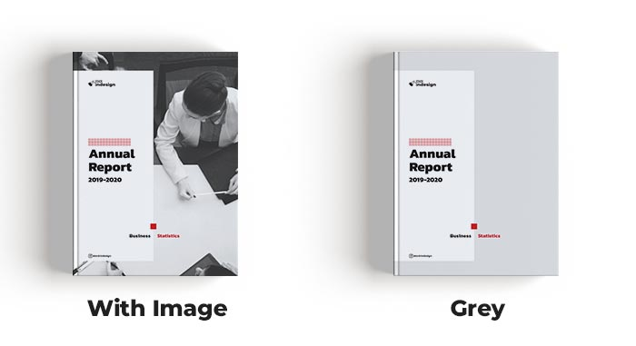 Cover for Elegant Annual Report Template for InDesign