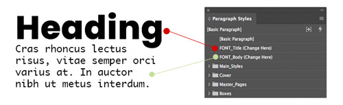 Change the Main Font in Adobe InDesign