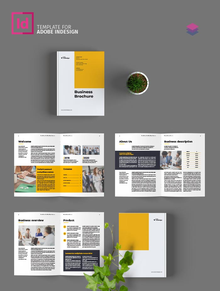Free Brochure Template for InDesign