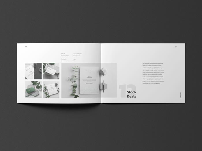 Landscape Portfolio for Designers with Resume