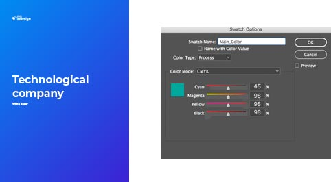 How to change the Main Color in Adobe InDesign
