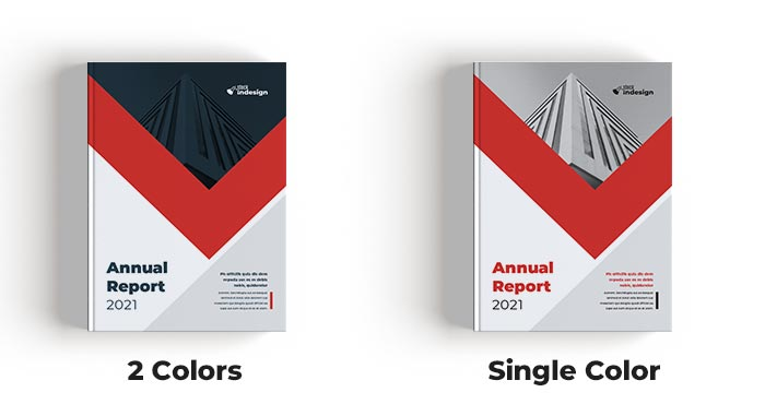 2 styles for Annual Report Template for Adobe InDesign