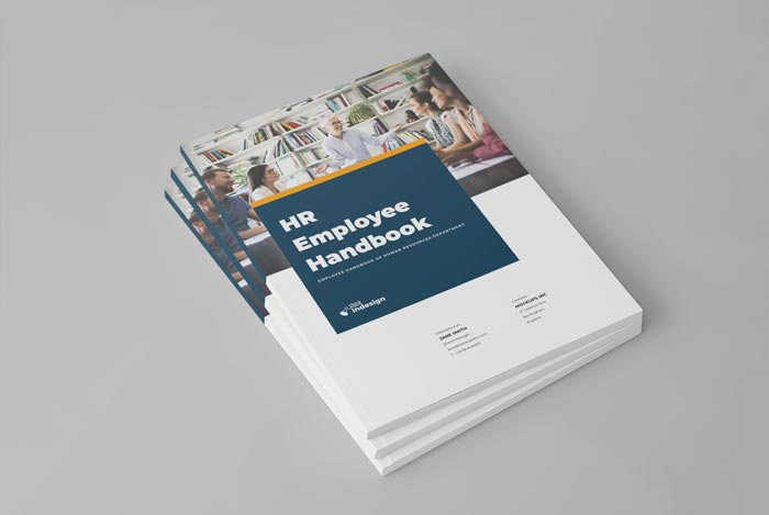 Cover of the HR / Employee Handbook Template for Adobe InDesign