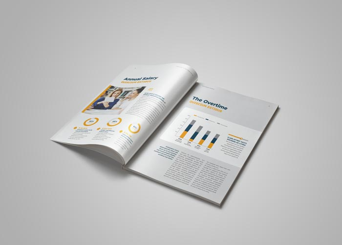 Infographics of the HR / Employee Handbook Template for Adobe InDesign
