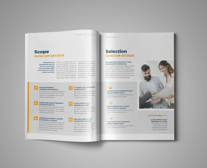 HR / Employee Handbook Template for Adobe InDesign