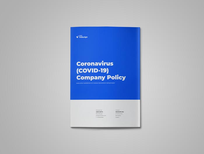 Coronavirus (COVID-19) Company Policy Template for Adobe InDesign