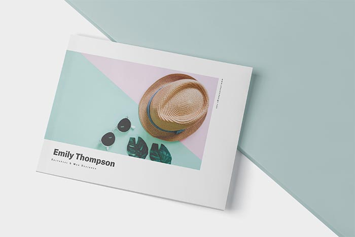 Cover of Landscape Portfolio Template for InDesign