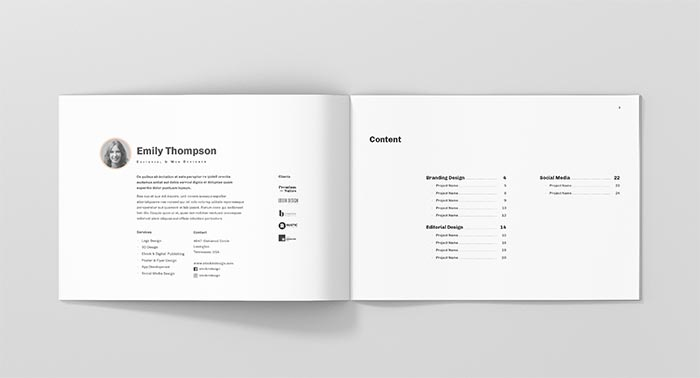 Landscape Portfolio Template for InDesign