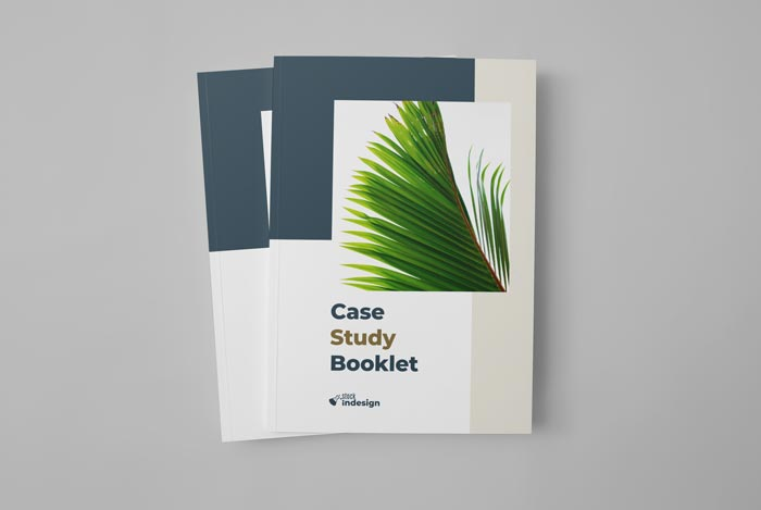 Cover of the Case Study Template for Adobe InDesign