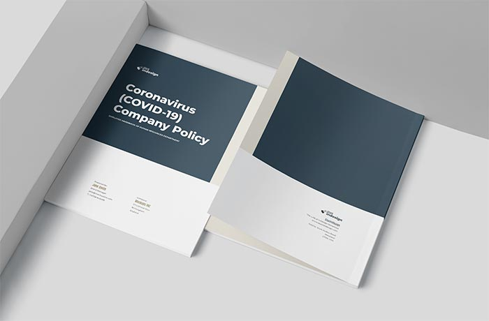 Cover of the COVID-19 Company Policy Template