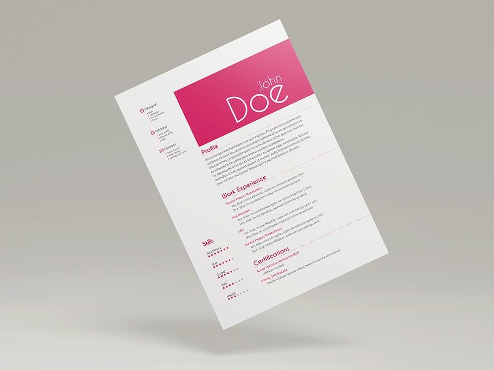FREE 3 CV/Resume Templates