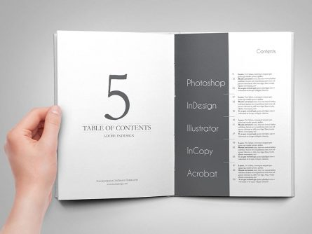 5 Amazing Table of Contents for Adobe InDesign