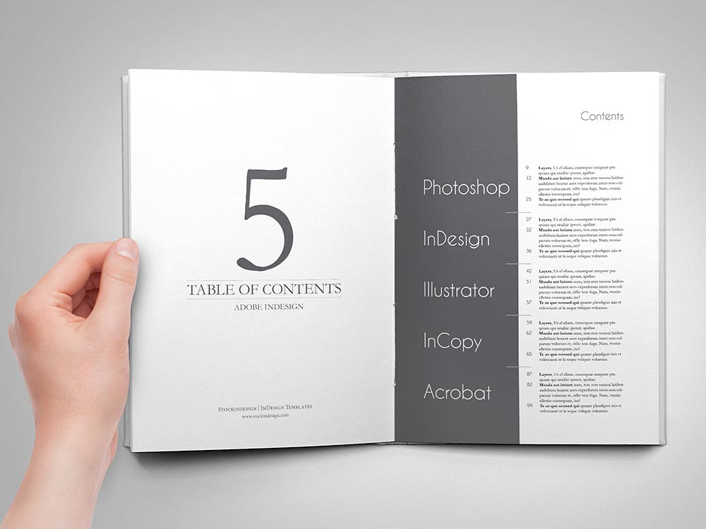 Amazing Table Of Contents For Adobe Indesign  Stockindesign