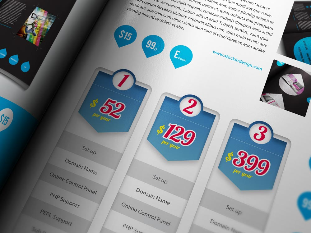 Modern Pricing Table for Adobe InDesign