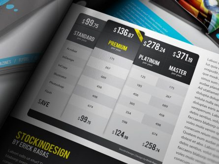 20 Premium Table Styles for InDesign