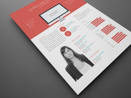 FREE Flat Resume Template