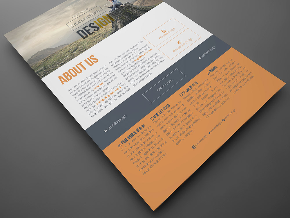 Clean Corporate Flyer Template  Stockindesign