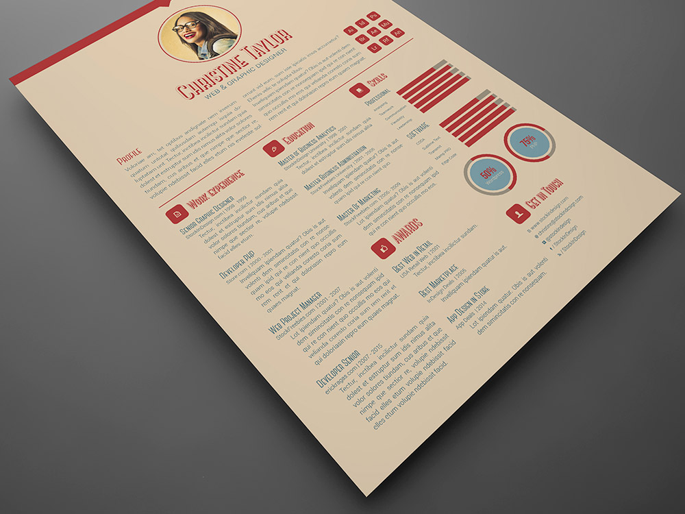 Business resume template stockindesign business resume template thecheapjerseys Images