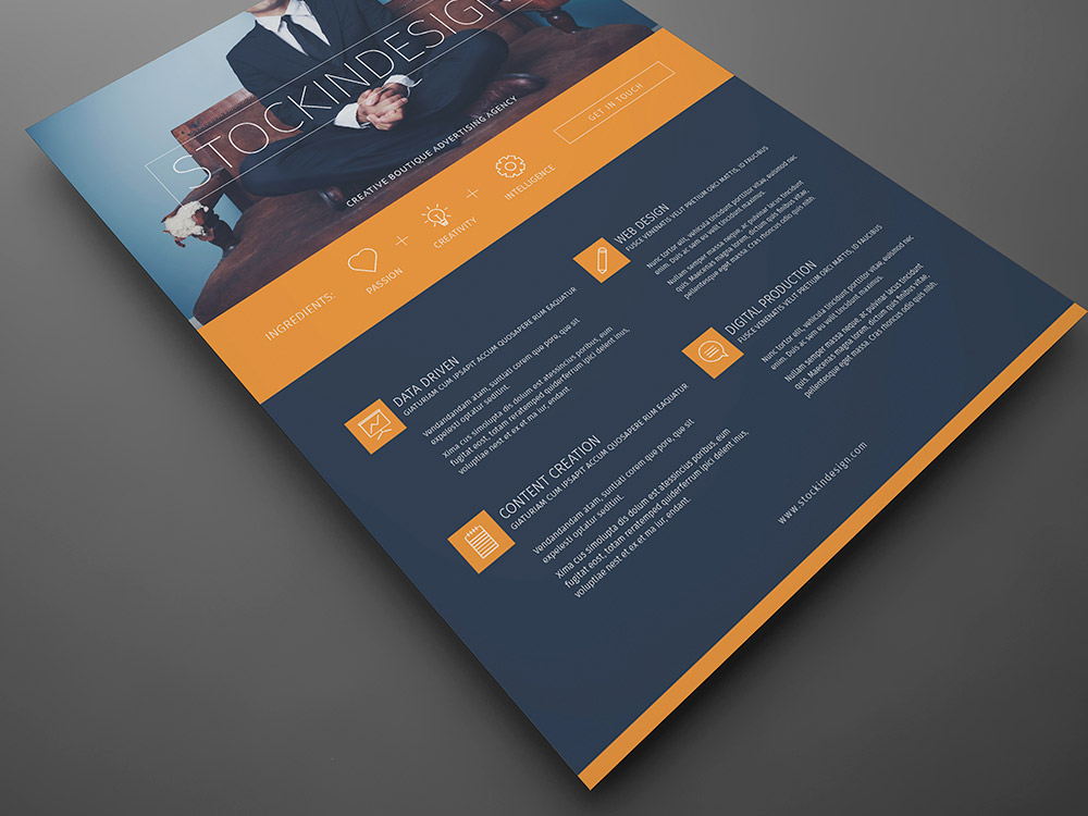 Corporate Flyer Template Modern Business StockInDesign - Modern brochure template
