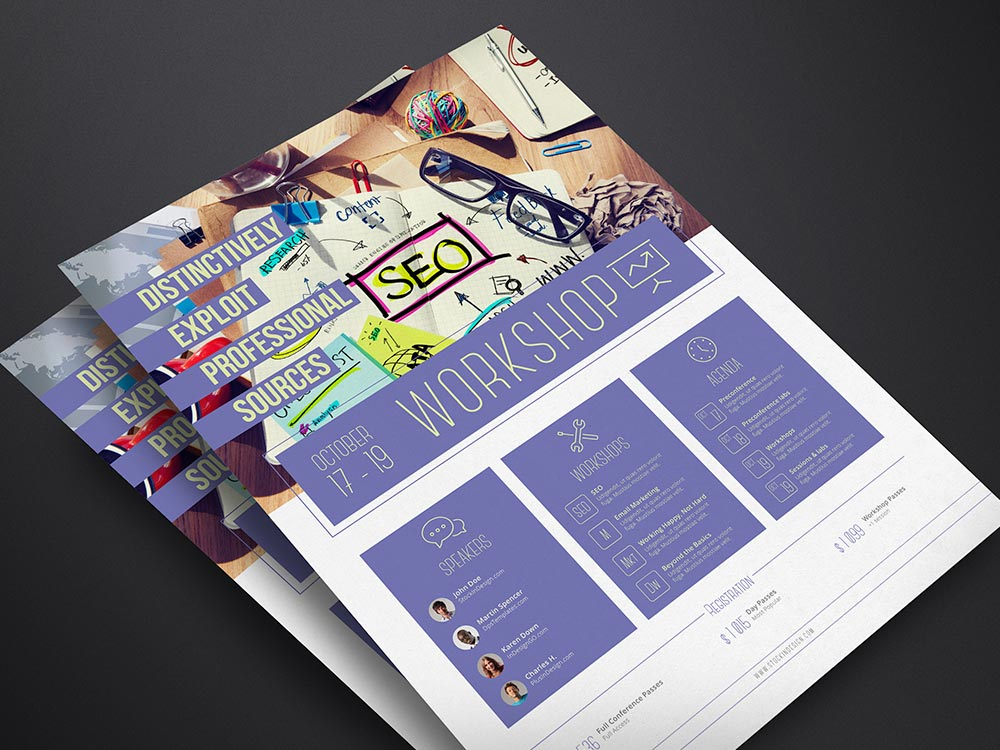 Corporate Flyer Template Workshop StockInDesign - Workshop brochure template