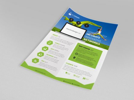 Corporate Flyer Template: MacBook