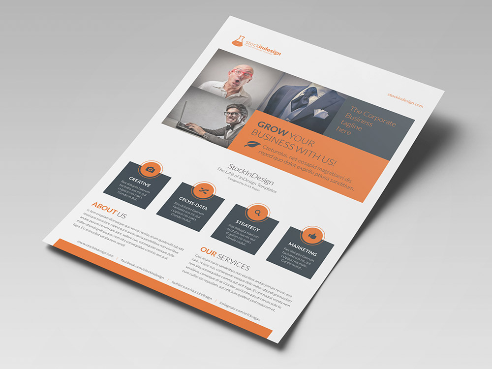 Corporate flyer template stockindesign for Brochure template indesign free download