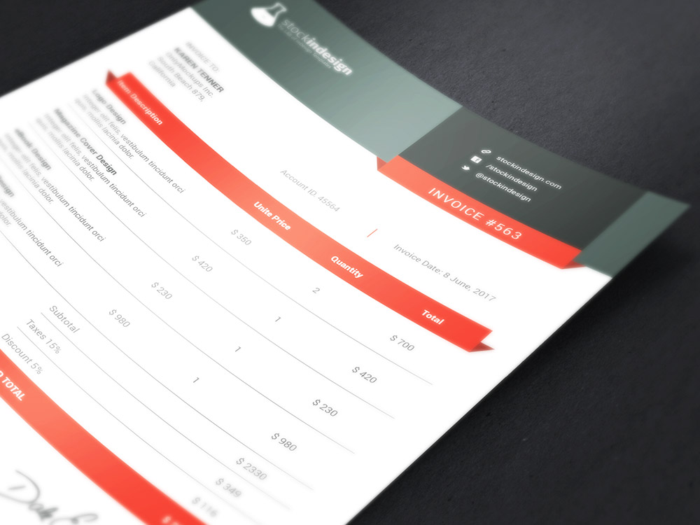Clean Invoice Template