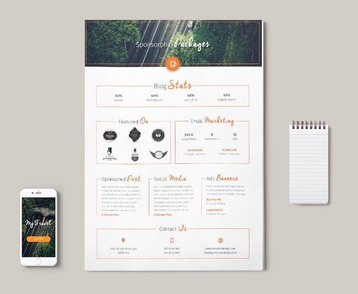 Blog Media Kit Template | StockInDesign