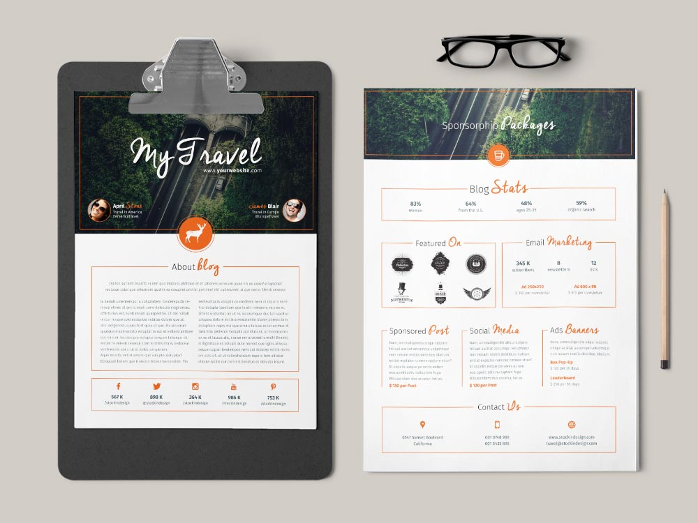 Blog media kit template stockindesign blog media kit template pronofoot35fo Image collections