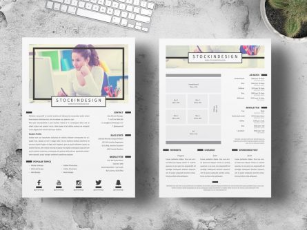 Page media kit template