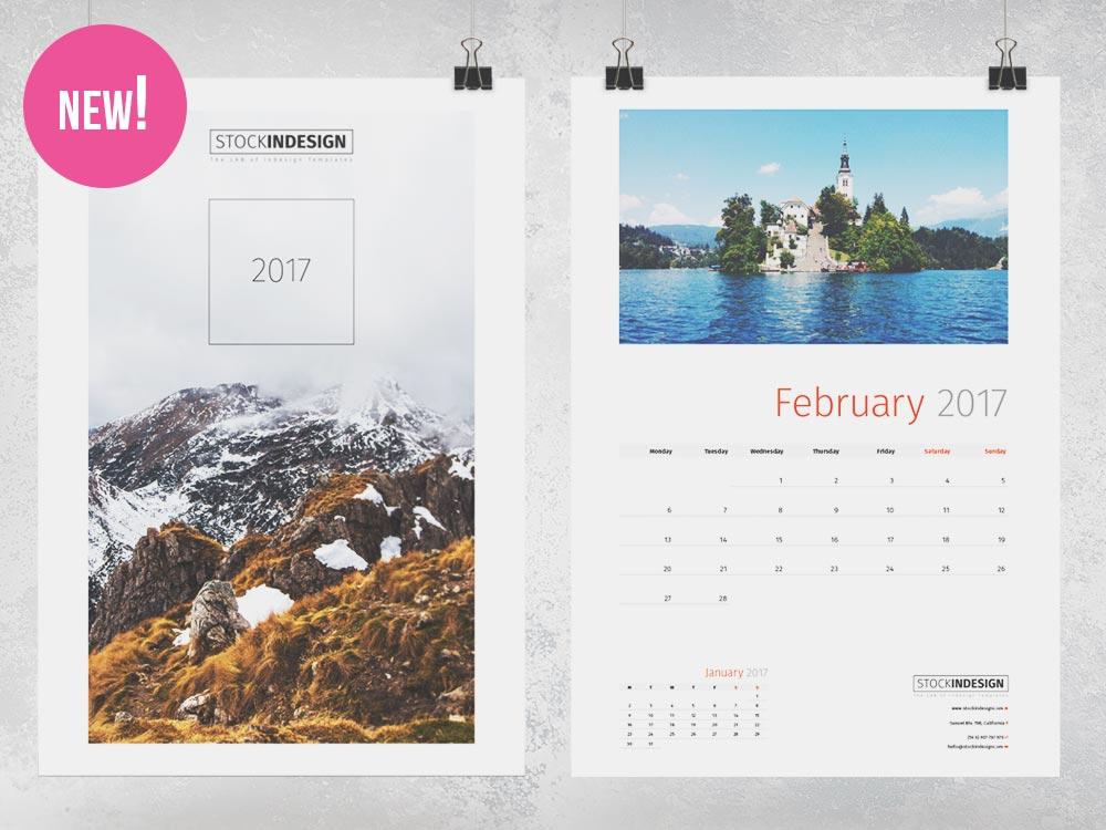 Wall Calendar 2017 | StockInDesign