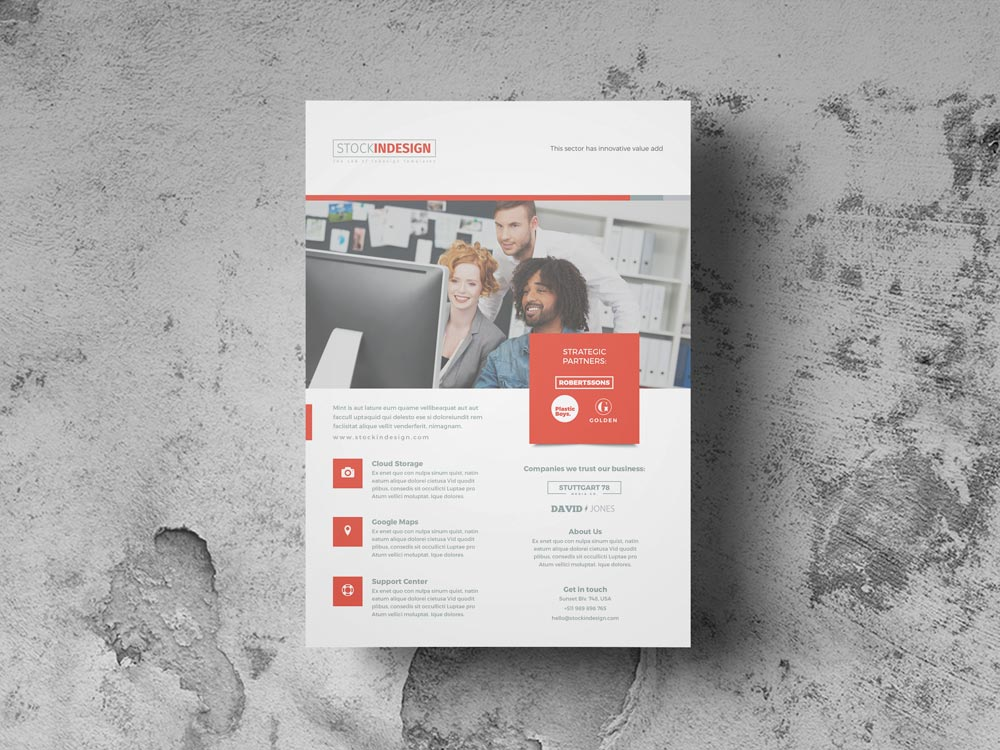 FREE Corporate Flyer Template | StockInDesign