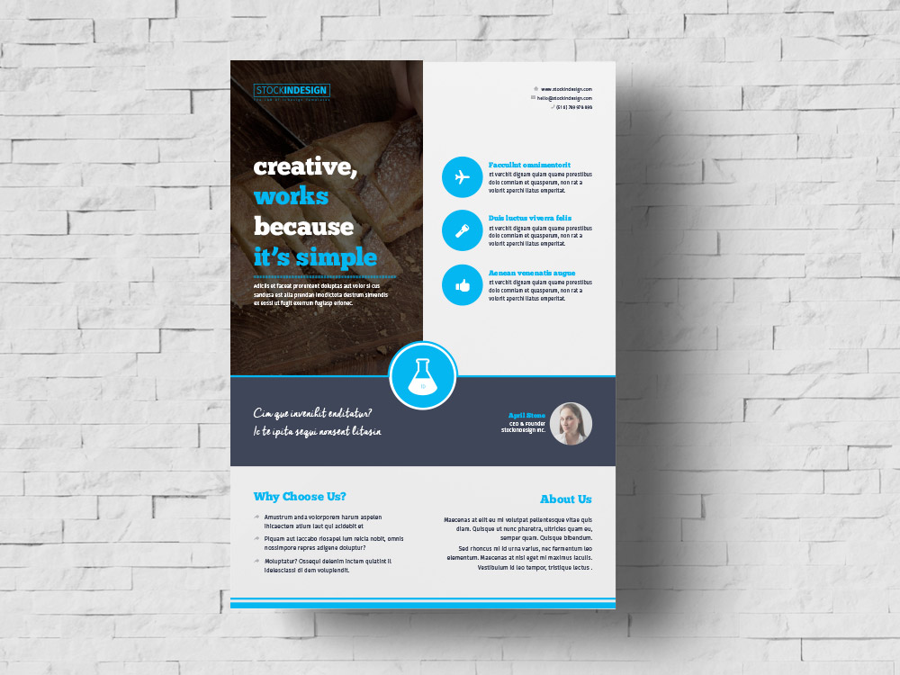 Free business flyer template stockindesign free business flyer template friedricerecipe