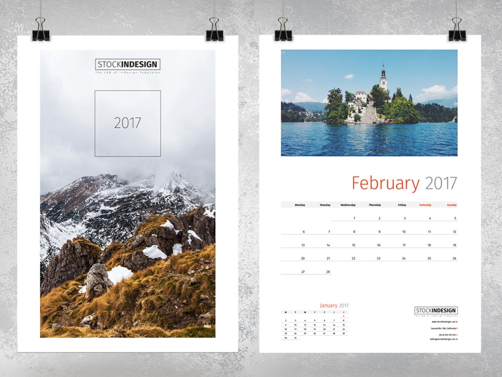 Wall Calendar 2017 - InDesign Template