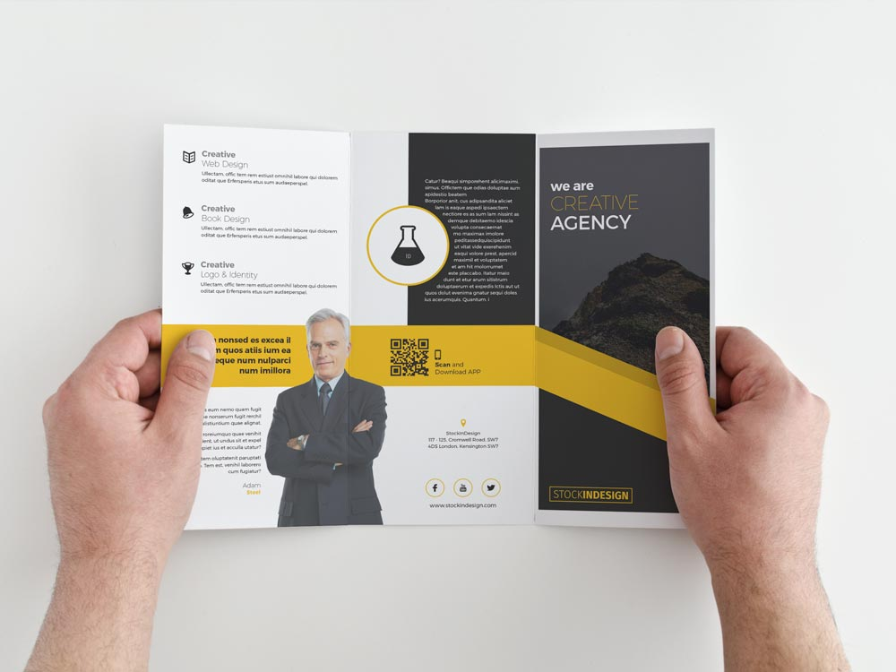 Free trifold brochure free indesign templates for Trifold brochure template