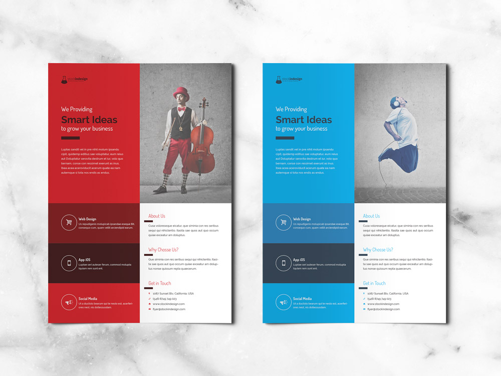 Free corporate flyer free indesign templates for designers for Adobe indesign brochure templates