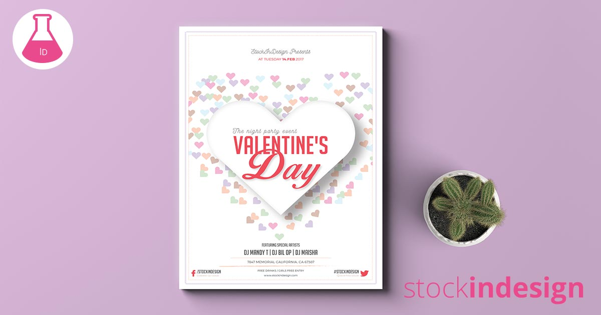 valentine s day flyer template adobe indesign template