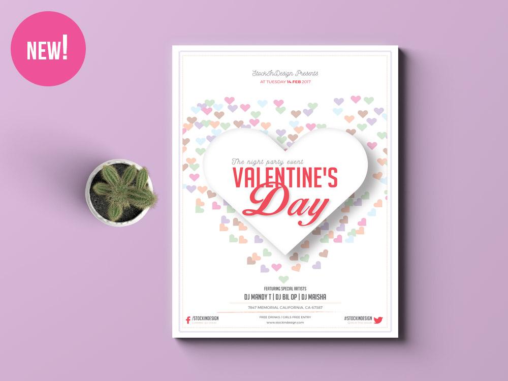valentine s day flyer template adobe indesign template. Black Bedroom Furniture Sets. Home Design Ideas