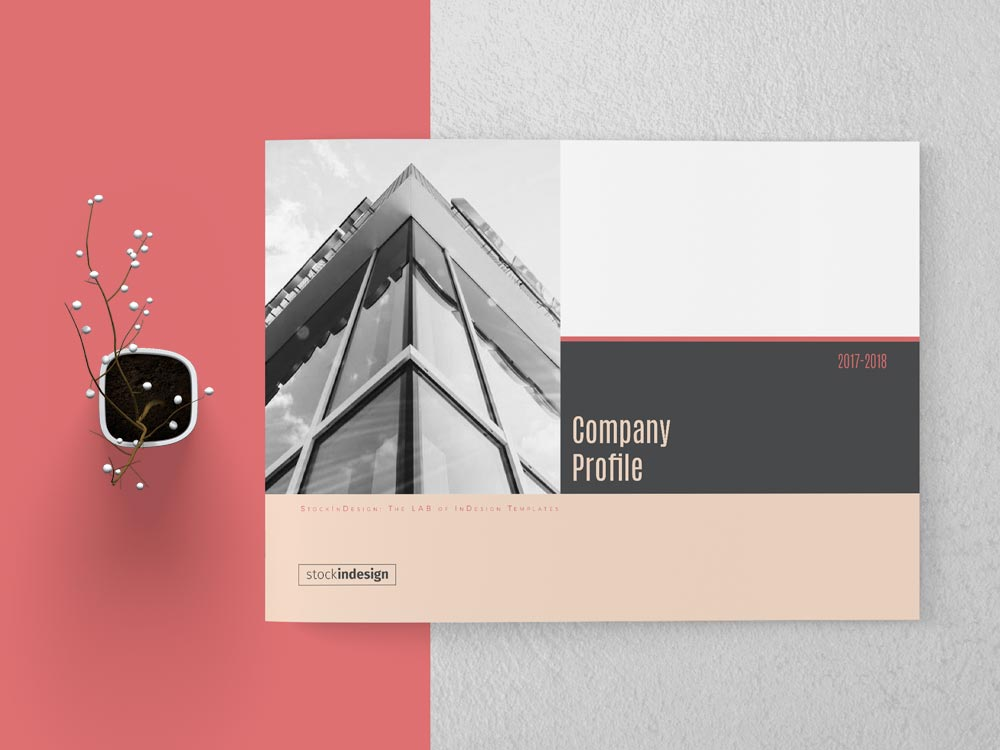 Company Profile Landscape Template | Adobe InDesign Template