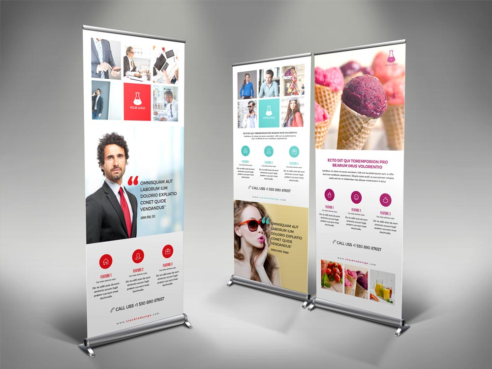 corporate roll up banner template adobe indesign templates