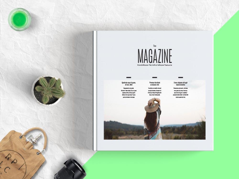 Minimal Square Magazine Template