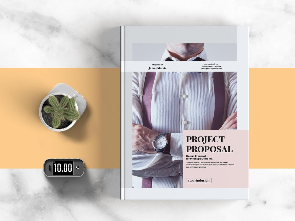 Project Proposal Template Adobe Indesign Templates