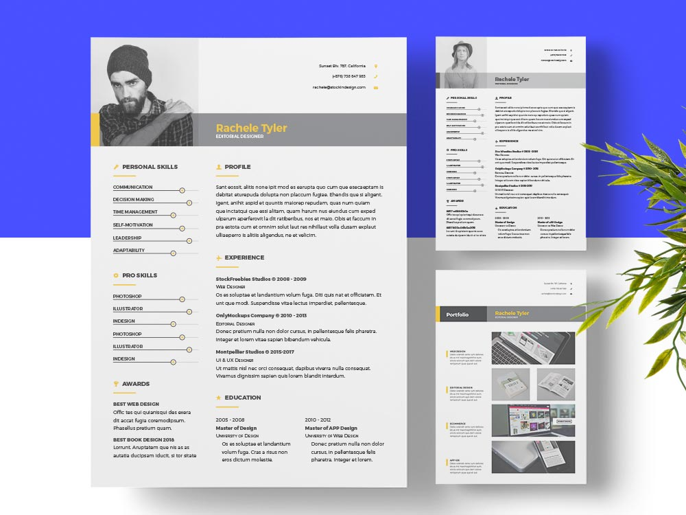 clean resume template for designers