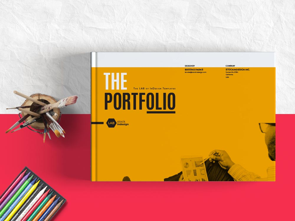 my portfolio landscape template for designers adobe indesign