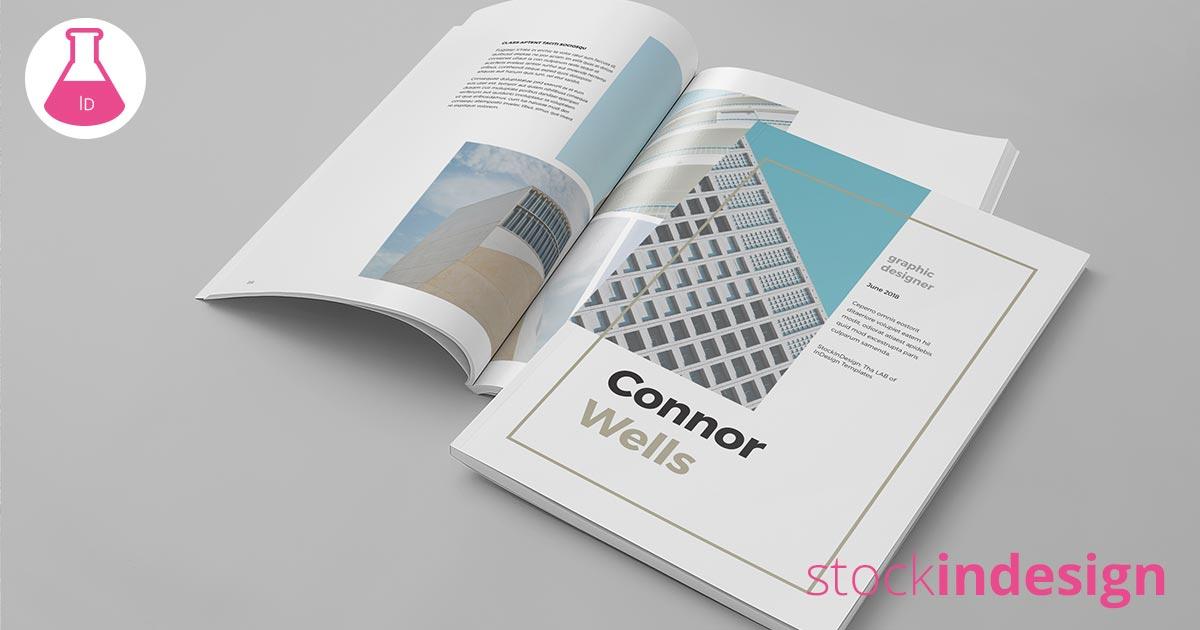 portfolio booklet template for designers