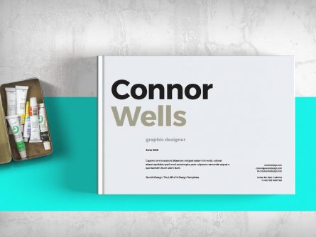 Portfolio Booklet Template for Designers | Adobe InDesign Templates